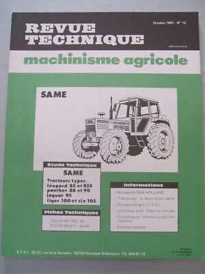 Revue Technique Tracteur Same Leopard 85 Panther 88 90 Jaguar 95 Tiger 100 105