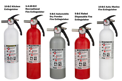 Kidde Fire Extinguisher Auto Marine Kitchen Recreational Disposable ABC Various
