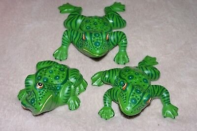 THREE POND OR  Garden DECORATIVE  Ceramic  Frog Statues  9""