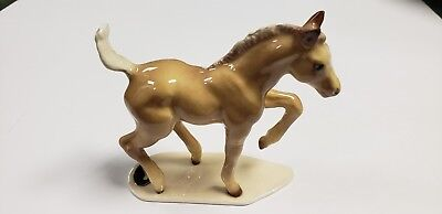 Retired Hagen Renaker HR Specialty Thoroughbred Foal Palomino TB horse colt