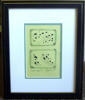 Fascinating Drawing …titled…signed And Dated…lucio Fontana….'