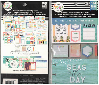 MAMBI Create365 The Happy Planner - ACCESSORIES KIT BEACH VIBES 394 pc