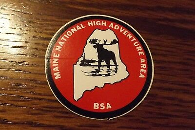 """Boy Scout Decal / Sticker Maine National High Adventure Area 2"""""""