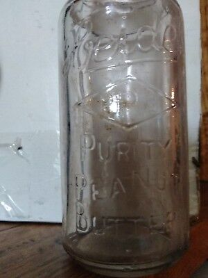 Vintage Embossed Heide Peanut Butter Jar Very Nice Condition Free Shipping