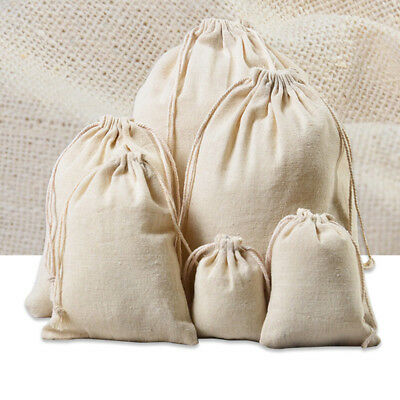 Size Fabric Gift Bag Travel Drawstring Storage Bags Sundries Beam Rope Pouches #