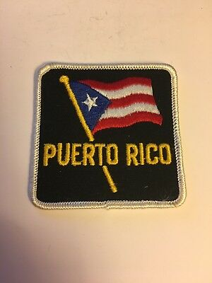 4 inch Square Puerto Rico Flag Patch