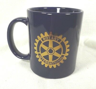Rotary International 4 Way Test Coffee Mug Navy Blue & Gold
