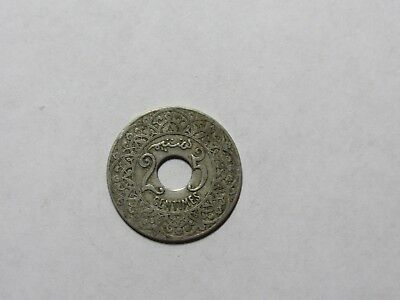 Old Morocco Coin - No Date ( 1924 ) 25 Centimes - Circulated