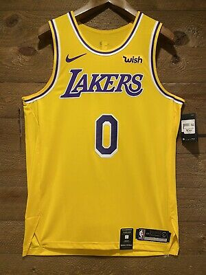 945573176 Kyle Kuzma Authentic Nike Lakers Icon Edition Jersey NWT. With WISH Patch!