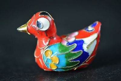 High Quality Chinese Cloisonne Enamel Duck Statue F97