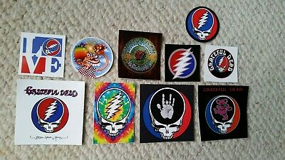 Lot Of 10 Grateful Dead Stickers. Steal Your Face. Dancing bear. Jerry.