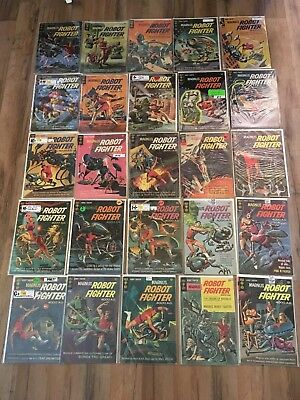 MAGNUS ROBOT FIGHTER Gold Key LOT Issues 1-46 Run - Missing # 24