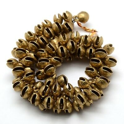 100pcs Unplated Brass Bell Pendants Charm DIY Necklace Round With Tiger Face