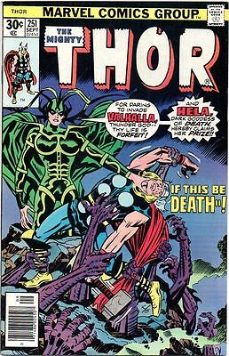 Thor # 251 Beautiful cover art Bronze age High Grade Near Mint The Mighty Thor..