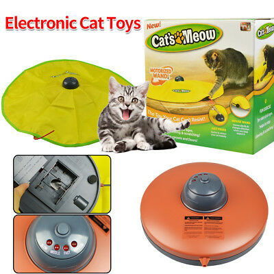Electronic Interactive Cats Cat's Meow Toy Undercover Fabric Moving Mouse Fun AU