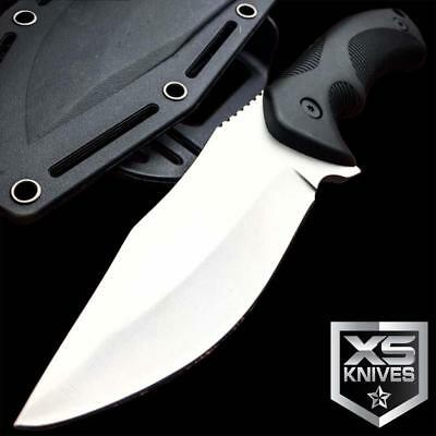 """9"""" Tactical Black Survival Hunting Military Bowie Fixed Blade Outdoor Boot Knife"""