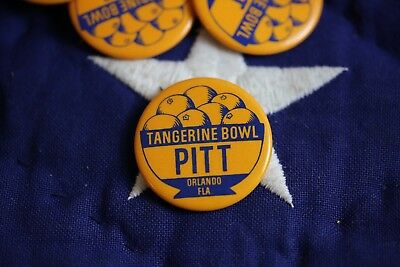 VINTAGE PIN button UNIVERSITY OF PITTSBURGH PITT Tangerine bowl 60's 70's 1.75""