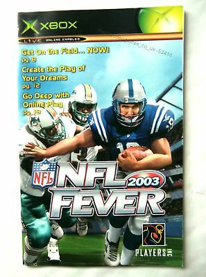 53416 Instruction Booklet - NFL Fever 2003 - Microsoft Xbox (2002)