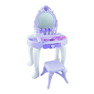 Vanity Set Kids Dressing Table Prented Play Toy Set Purpal Christmas Gift