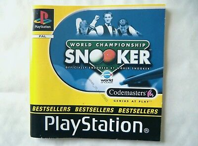55990 Instruction Booklet - World Championship Snooker - Sony Playstation 1 (200