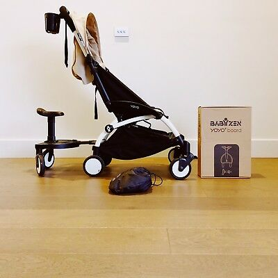 Babyzen Yoyo Travel Stroller 'taupe' With Toddler Board And Cup Holder
