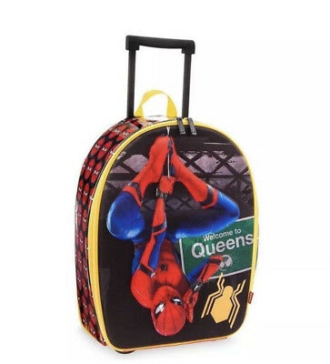New Marvel Disney Store Spider-Man Rolling Luggage Suitcase for Kids