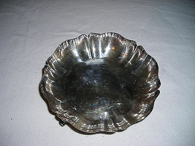 Vintage! WM.Rogers Round Footed Silverplate Candy Dish