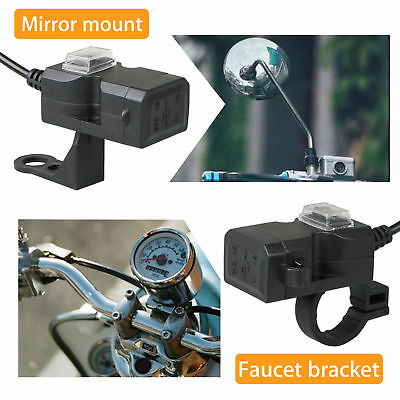 Waterproof Motorcycle 12V SAE to USB Phone GPS Charger Cable Power Adapter Cord