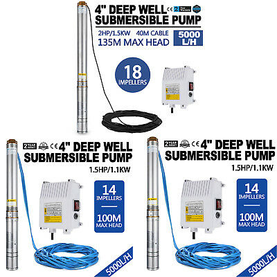 "4"" Borehole Pump Deep Well Water Submersible Electric Garden Pump"