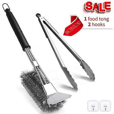 "LuckIn 360° Clean BBQ Grill Brush and Scraper, 18"" Barbecue Cleaning Brush"
