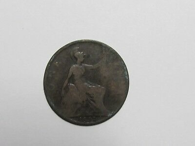 Old Great Britain Coin - 1897 Penny - Circulated