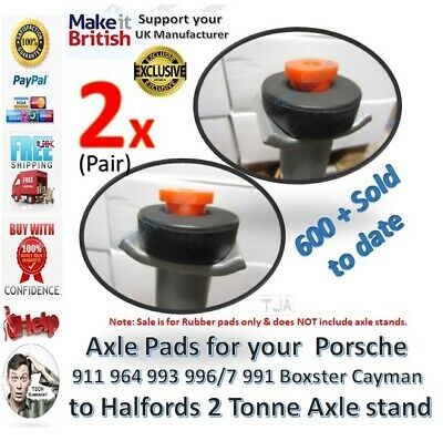 Porsche Axle stand Jack pads Hard Rubber 911 964 993 996 997 991 Boxster Cayman