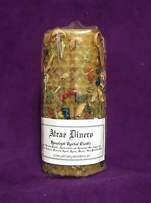☆ Atrae Dinero - Attract Money ☆ Herbal Candle Ritualized! Natural Wax!