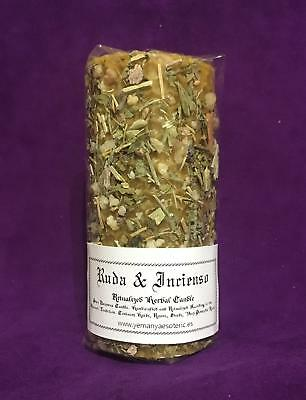 ☆ Ruda & Incienso - Rue & Frankincense ☆ Herbal Candle Ritualized! Natural Wax!