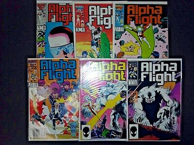 ALPHA FLIGHT #40 41 42 43 44 45 Marvel Comics series 1 LOT X 6