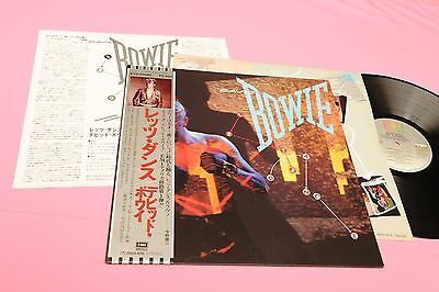 David Bowie Lp Lets Dance Japan Nm !!! Insert And Obi Tooooppppppp !!!!