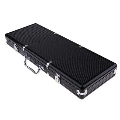 Portable 500pc Aluminum Case Casino Poker Games Chips Counters Box with Key