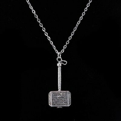 Pop Marvel Avengers Thor Thor's Hammer Alloy Pendant Necklace Jewelry Crystal