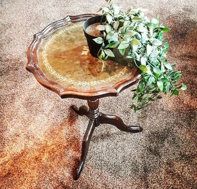Vintage Antique Edwardian Style Leather top Table
