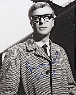 Michael Caine - ' The Ipcress File ' In Person Signed B & W Photograph.