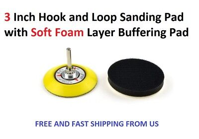 3 Inch Hook and Loop Sanding Pad with Soft Foam Layer Buffering Pad