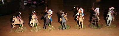 Hand Painted Britains Native Americans On Horses