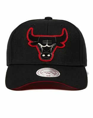 MITCHELL & NESS Chicago Bulls NBA Filter Curve One Size Snapback Cap Hat NEW