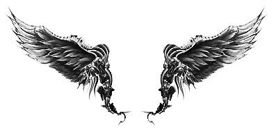 High Quality 13.5cm x 6cm Fake Tattoo Wings Waterproof Temporary Body Art