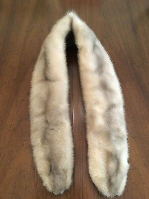 Vintage Genuine Beige Mink Fur Collar/Scarf – Great Condition