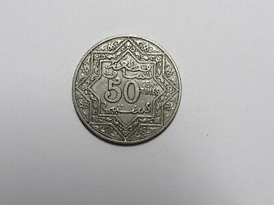 Old Morocco Coin - No Date ( 1924 ) 50 Centimes - Circulated