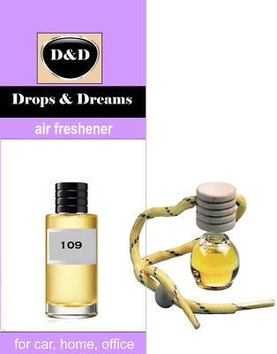 "109 Air Freshener D&D Perfume for Car Home Office - Dior ""Bois D' Argent"""
