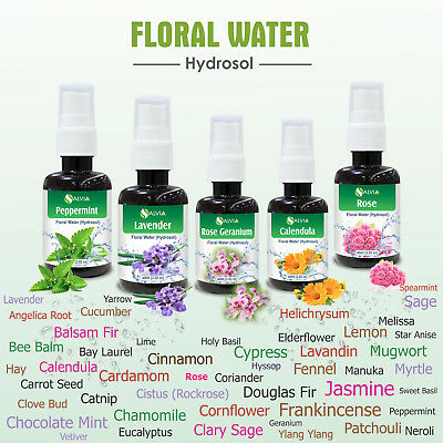Hydrosol & Floral Water 60ml  ( 2.02 oz ) 100% Pure And Natural