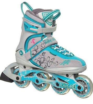 K2 Zoe 80 women's inline skates size 6,5 UK breast cancer limited edition