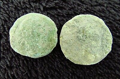 Unclean LOT of Ancient Roman Bronze Coins to Identify  circa 200 - 400 AD (+170)